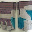 2 Pair Sz XL Leather Palm Work Gloves w/Big Cuffs #61525