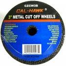 """9 Piece Cal-Hawk 3"""" Metal Cut-Off Wheels #CZCW3B"""
