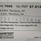 Sarstedt polypropylene Cone-Bottom Tubes 75 x 12 4.5ml #TADK070511
