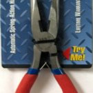 """New MIT 8"""" Flex-Grip Long Nose Pliers #35073"""