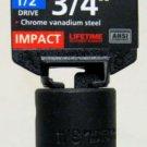 """MIT 1/2"""" Dr. x 3/4"""" SAE Deep Impact Socket #47790"""