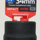 "MIT 1/2"" Dr. x 34MM Deep Impact Socket #4934"
