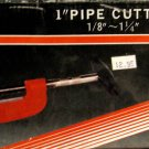"""New  MIT 1"""" Pipe Cutter 1/8"""" - 1-1/4"""""""