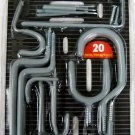 New 20-Pc. Value Pack Home And Garage Organizers