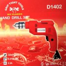 "Grip Tight Tools Corded 3/8"" Hand Drill #D1402"