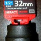 "New MIT 1/2"" Dr. x 32MM Shallow Impact Socket #47781"