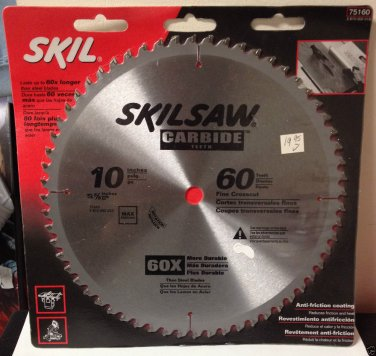 "NEW Skil Saw Circular Saw Blade 10"" - Carbide Teeth - 60T #75160"