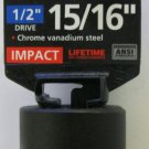 "New MIT 1/2"" Dr. x 15/16"" SAE Shallow Impact Socket #47758"