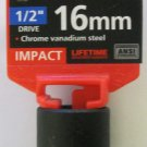 "New MIT 1/2"" Dr. x 16MM Shallow Impact Socket #47771"
