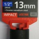 "New MIT 1/2"" Dr. x 13MM Shallow Impact Socket #47768"