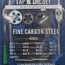 New MIT 40-Pc Metric Fine Carbon Steel Tap & Die Set