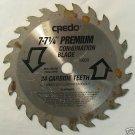 "7-7-1/4"" Credo Premium Combination Blade 24-T Carbide"