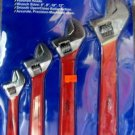 New A.T.E.  4-Pc Adjustable Wrench Set