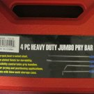 New 4-Pc. Heavy Duty Jumbo Pry Bar Set  #70129