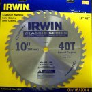 "New Irwin Classic Series 15270 10"" 40 Tooth General Purpose Saw Blade"