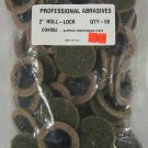 "New Abrasives 2"" Roll Lock Coarse Surface Disc 50-Pc."