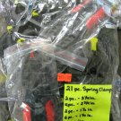 New 21-pc. Various Size Spring Clamps Includes 2 Free Ratcheting Clamps