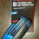 New MIT 8 pc Folding Star Key Wrench Set #25171