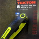 New MIT 8 pc Folding Metric Hex Key Wrench Set #25161