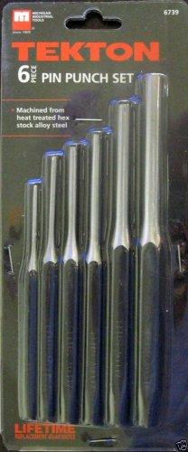 New MIT / Tekton 6-Pc. Pin Punch Set #6739