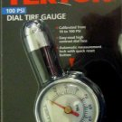 New MIT 100 PSI Dial Tire Gauge #5938