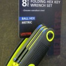 New MIT 8-pc Folding Hex Key Wrench Set MM Ball Hex #25191