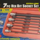 "New MIT 3/8"" 7-Pc. Extra Long Hex Bit Socket Set SAE"