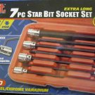"New MIT 7-Pc. 3/8"" Dr. Extra Long Star Bit Socket Set"
