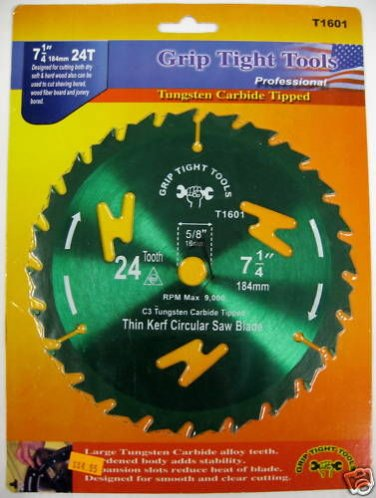 "GripTight 7-1/4"" 24T Thin Kerf Circular Saw Blade"