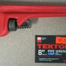 """New MIT 8"""" Pipe Wrench 1-1/2"""" Jaw Capacity #2370"""