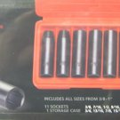 "New MIT 12-Pc 1/2"" Drive Deep Impact 6-Point Socket Set Carbon Steel SAE #4855"
