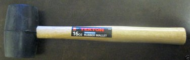 New MIT 16-oz Rubber Double-Faced Rubber Mallet w/Hardwood Handle #3174