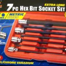 New MIT 7-Pc. Extra Long Hex Bit Socket Set MM