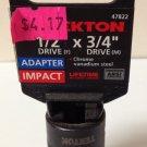"""New MIT 1/2""""(F) x 3/4""""(M) Impact Adapter #47822"""
