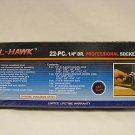 "New Cal-Hawk 22 Pc 1/4"" Dr Professional SAE Socket Set"