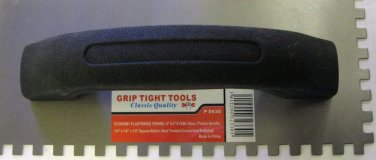 "New Grip Tight Tools Economy Plastering Trowel 9""x4""x1/4"" #65Mn Steel #P0930"