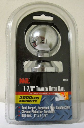 "New MIT 1-7/8"" Trailer Hitch Ball 2000 LB 1"" x 2-1/2""  # 6069"