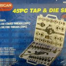 New A.T.E. 45-Pc. SAE Tap & Die Set #50001*