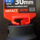 """New MIT/Tekton 1/2"""" Dr. x 30MM Shallow Impact Socket # 47780"""