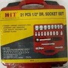 """New HIT  21-Pc. 1/2"""" Dr. Socket Set MM # 12-SK2112M"""