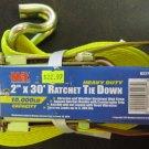 "New MIT 2"" x 30' Heavy Duty Ratchet Tie Down J-Hook # 6227"