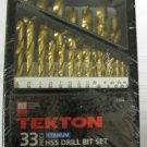 New MIT/Tekton 33 Pc. HSS  Drill Bit Set # 7304