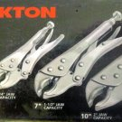 New MIT/Tekton 3 Pc. Curved Jaw Locking Pliers Set  # 3730