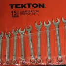 New 15-Pc. Combination Wrench Set 13-24 MM # 1947