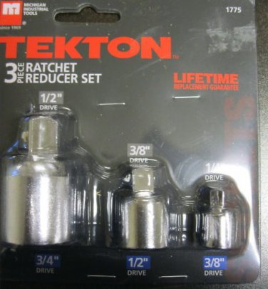 New MIT/Tekton 3-Piece Ratchet Reducer Set #1775 OUT OF STOCK