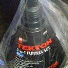 New MIT/Tekton 2-in-1 Funnel Set 40oz Capacity #6094