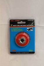 """New Cal-Hawk 3"""" Knot Type Fine Wire Cup Brush 5/8"""" Arbor # CZWWC3NF"""