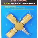 New Cal-Hawk 3 Way Brass Quick Coupler Connectors # CAHQC3
