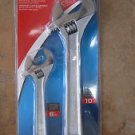"New Crescent Brand 2 Pc Adjustable Wrech Set: 10"" & 6""  # 26388"