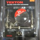 New MIT/Tekton Soldering Helping Hand w/Magnifier & Dual Alligator Spring Clamps # 7521